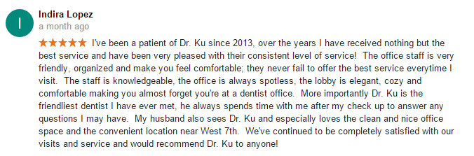 Fort Worth Dentist H Peter Ku Review 15