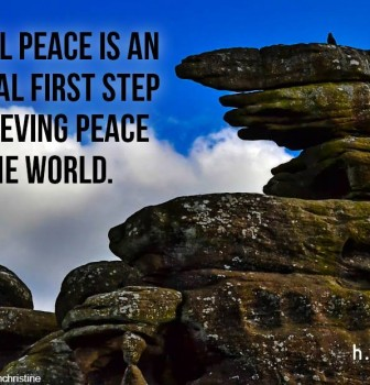 Internal peace is an essential first step to achieving peace in the world