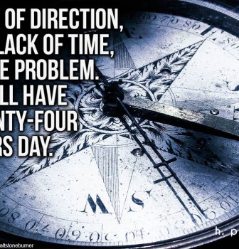 Lack of direction not lack of time is the problem – We all have twenty-four hours day
